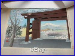 16-480 Tomikichiro Japanese Mt. FUJI Woodblock print 36 prints Hasui school