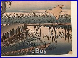 1834 Utagawa Hiroshige The MIE River Japanese Rare Woodblock