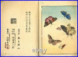 1903 Birds 50 Pictures by Haruna KInzan Japanese Original Woodblock Print Book