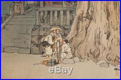 1930s Hiroshi Yoshida Misty Day in Nikko Japanese Color Woodblock Print 16