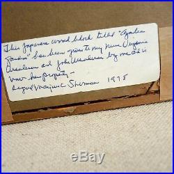 1935 Hiroshi Yoshida Azalea Garden Signed Woodblock Lifetime Print Ed. Japanese