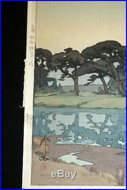 1935 Japanese Woodblock Print Suzukawa Pencil signed Hiroshi Yoshida (ToS)#9