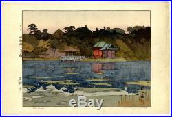 1937 Hiroshi Yoshida JIZURI Seal PENCIL Signed Shakujii Original Japanese Print