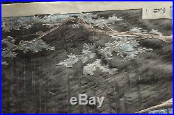 1940 Orig TOKURIKI TOMIKICHIRO Japanese Woodblock Print Rain at Yoshida Trail