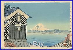 1940 Orig TOKURIKI TOMIKICHIRO Japanese Woodblock Print The Sea at IZU