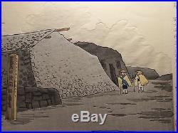 1940 Orig TOKURIKI TOMIKICHIRO Japanese Woodblock Print The Summit of Mt Fuji