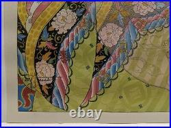 1950 Paul Jacoulet Japanese Woodblock Print Les Perles Shin Hanga