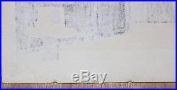 1950s Kiyoshi Saito (1907-1997) Original Japanese Woodblock Print Pagoda/Temple