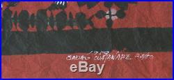 1959 Sadao Watanabe The Well In Samaria Momigami Japanese Religous Woodblock /50