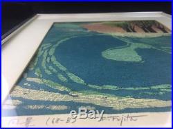 1968 FUMIO FUJITA Japanese Woodblock Print Signed 57/200