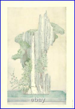 1970 JAPANESE Wood block Print OLD ART ORIGINAL Woodcut Japan Toshi Yoshida 501h