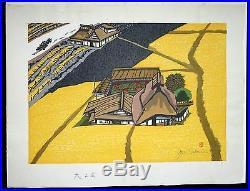 1970s Japanese Woodblock Print Oiso, Tokaido Rd Series by Jun'Ichiro Sekino