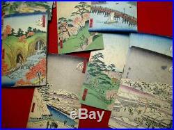 2-20 Hiroshige 48 prints Edo ukiyoe Japanese Woodblock print