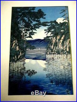 4-15 HASUI Towada Ukiyoe Japanese Woodblock print