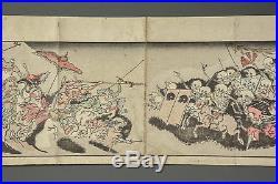 ANTIQUE JAPANESE WOODBLOCK PRINTS by KYOSAI KAWANABE YOKAI MANGA MONSTER c. 1889