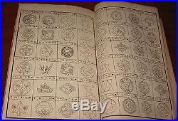 Antique Japanese Woodblock Print Book of Mon Family Crests ect