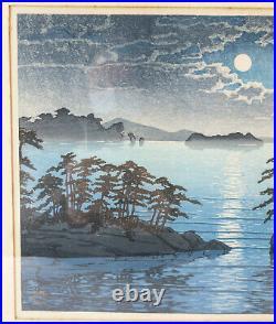 Antique Japanese Woodblock Print Kawase Hasui Matsushima Futagojima