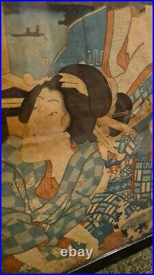 Antique Original Japanese Woodblock Print