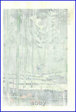Asano Takeji TA10 SAGANO TAKEYABU Japanese Woodblock print