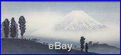 C1936, Takahashi Shotei, Original Japanese Woodblock Print, Mt. Fuji In The Mist