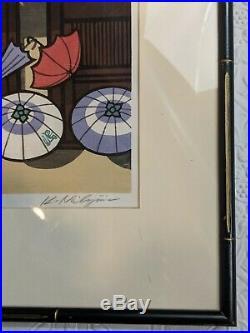 CONTEMPORARY PENCIL SIGNED Japanese WOODBLOCK PRINT by Katsuyuki Nishijima