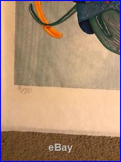 Color Woodblock Japanese paper Jim Monson Yin Yang Kite Proof 16/50 Large piece