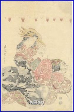 Eizan Kikukawa, Beauty, Courtesan, Ukiyo-e, Japanese Woodblock Print