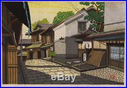 En0651jfSw Japanese woodblock print Ido Masao Sannenzaka in the morning 49/200