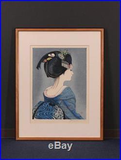 En0666sjSw Japanese woodblock print Sekino Junichiro Maiko Beauty 29/128