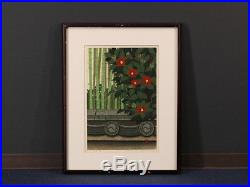 En0693jlSw Japanese woodblock print Ido Masao Bamboo & Camellia 116/200