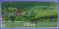 En0909jfNm2Japanese woodblock print Ido Masao Pond of Osawa 67/200 1996