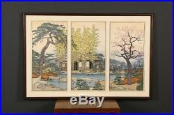 En0967rtPk7Japanese woodblock print Yoshida Toshi Spring View