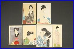 En1052ajEa11Japanese woodblock print Hashiguchi Goyo Six beautiful Woman