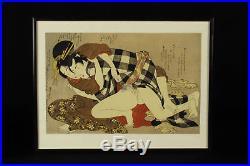 Estampe Japonaise érotique SHUNGA / Japanese woodblock print HOKUSAI UTAGAWA n03