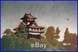 FIRST STATE! 1927 Kawase Hasui Kiso River Original Japanese Woodblock Print