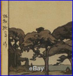 First Light of the Sun Hiroshi Yoshida Japanese Woodblock Print Mt Fuji Signed