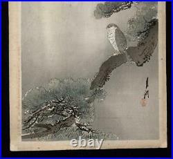 GEKKO OGATA (1859-1920) JAPANESE Woodblock Woodcut Print EAGLE & MOUNT FUJI