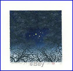 HAJIME NAMIKI AP JAPANESE Woodblock Proof Print Tree Scene 126 SIGNED 13/30