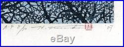 HAJIME NAMIKI AP JAPANESE Woodblock Proof Print Tree Scene 126 SIGNED 14/30