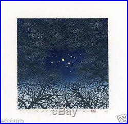 HAJIME NAMIKI AP JAPANESE Woodblock Proof Print Tree Scene 126 SIGNED 8/30