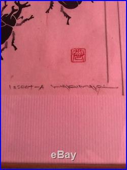 HAKU MAKI Japanese Woodblock Print Insect-A 180/217