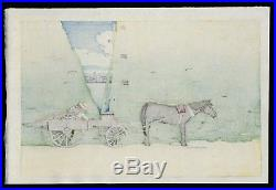 HASUI JAPANESE Hand Printed Woodblock Print Komagata Embankment