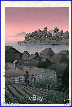 HASUI JAPANESE Woodblock Print SHIN HANGA Amakusa Honryo