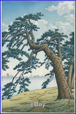 HASUI JAPANESE Woodblock Print SHIN HANGA Misty Morning at Yotsuya Mitsuke