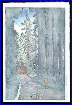 HASUI JAPANESE Woodblock Print SHIN HANGA Road to Nikko Nikko Kaido