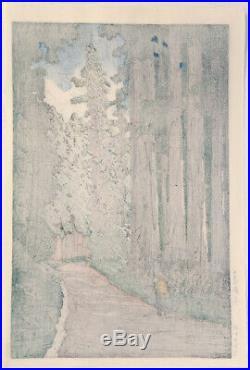 HASUI KAWASE Japanese Woodblock Print Nikko Kaido Lane