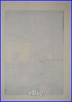 HASUI KAWASE Japanese woodblock print ORIGINAL Shin-hanga Ame no Ushibori