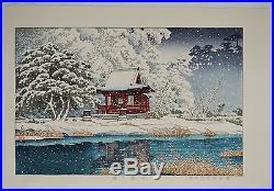 HASUI KAWASE Japanese woodblock print ORIGINAL Shin-hanga Inogashira Benten