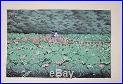 HASUI KAWASE Japanese woodblock print ORIGINAL Shin-hanga Shiba bentenike