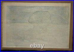 HIROSHI YOSHIDA-Japanese Woodblock Print-THE SPHINX AT NIGHT-1925-Jizuri